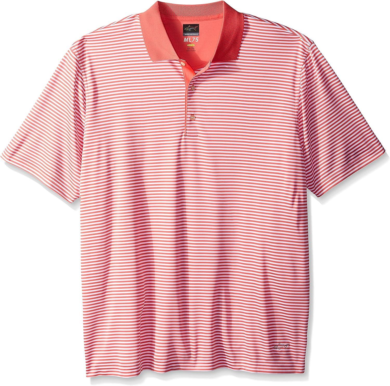 Greg Norman PGA Mens ML75 Bar Stripe Polo
