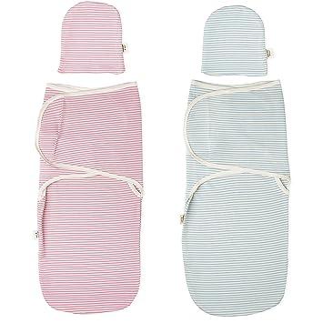 Amazon.com: Manta de bebé de algodón con gorro a juego ...