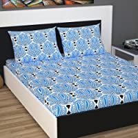 Divine Casa Classic 144 TC Cotton Double Bedsheet with 2 Pillow Covers