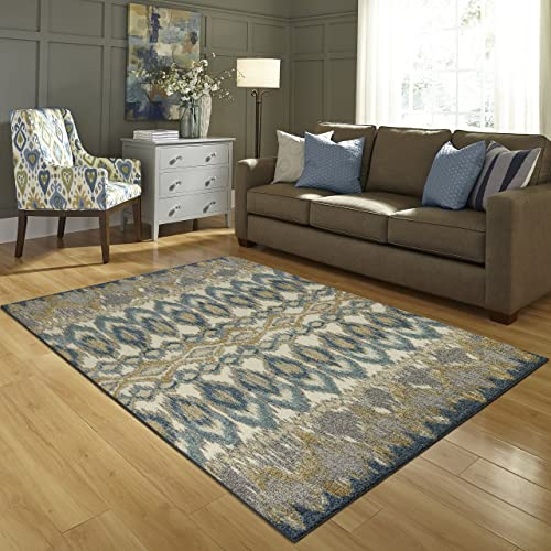 Kitchen Rugs, Maples Rugs Made in USA Nessa Artwork Collection 2 6 x 3 10 Non Slip Padded Small Area Rugs for Living Room, Bedroom, and Entryway