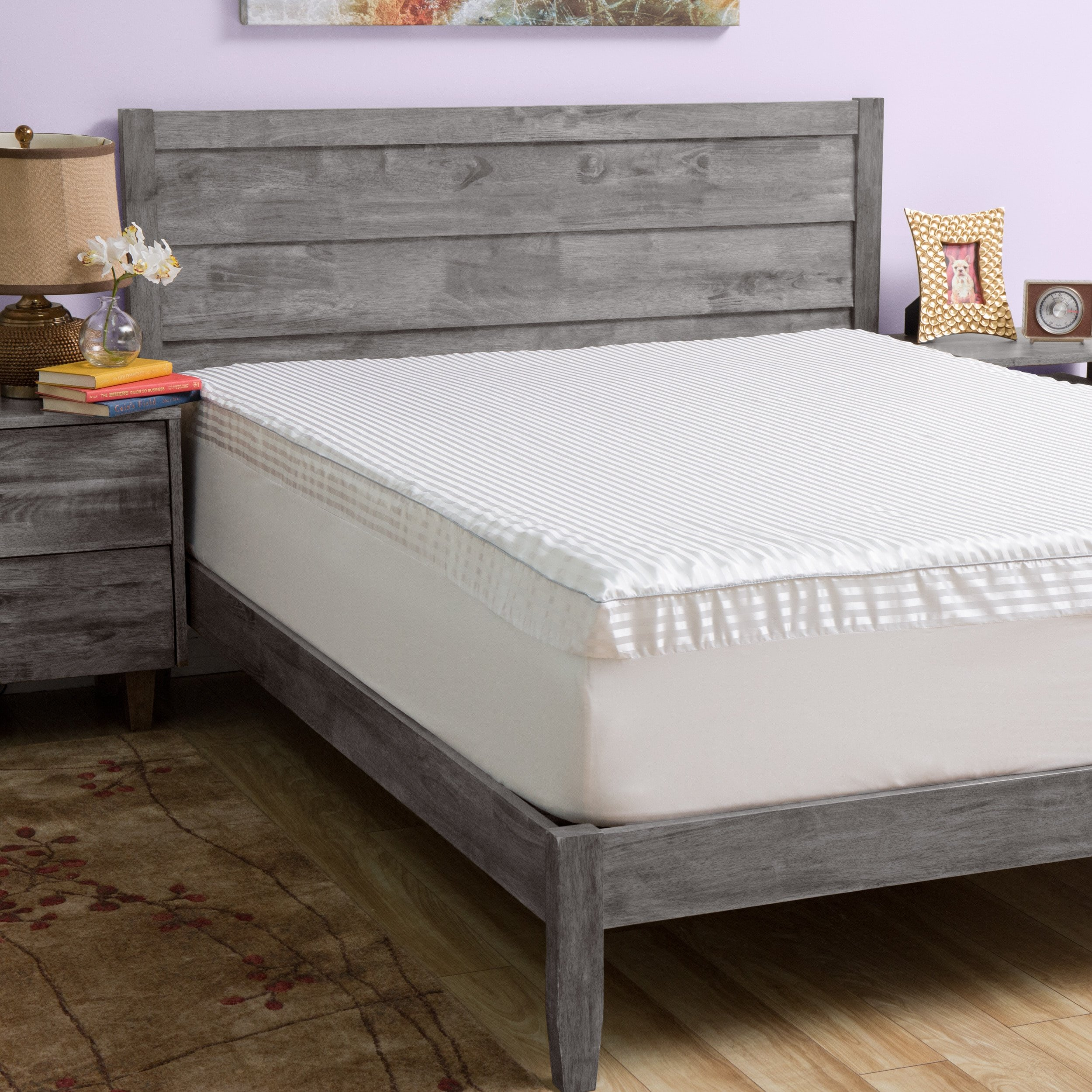 Grande Hotel Collection Big Comfort 3-inch Memory Foam Mattress Topper with Cover Queen