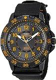 Timex Men's TW4B05200 Expedition Gallatin Black/Orange Nylon Slip-Thru Strap Watch