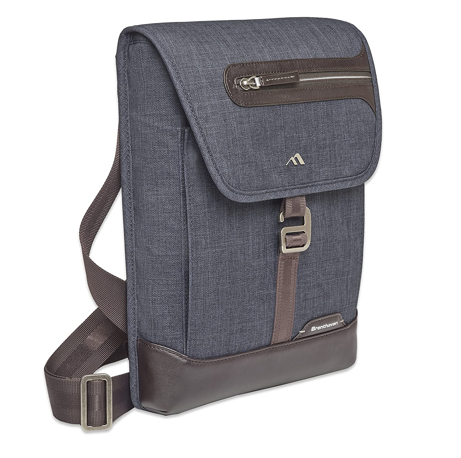 2af9e6caa2 Brenthaven 1957 Graphite Grey Collins Vertical Messenger Bag for 13 inch  Tablet Laptop Mac iPad  Amazon.co.uk  Computers   Accessories