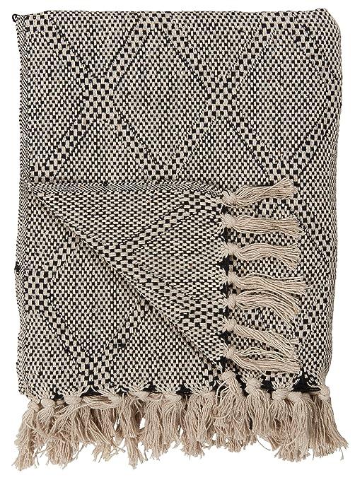 IB Laursen PLAID Hellgrün Creme Streifen Decke Wolldecke Kuscheldecke Baumwolle
