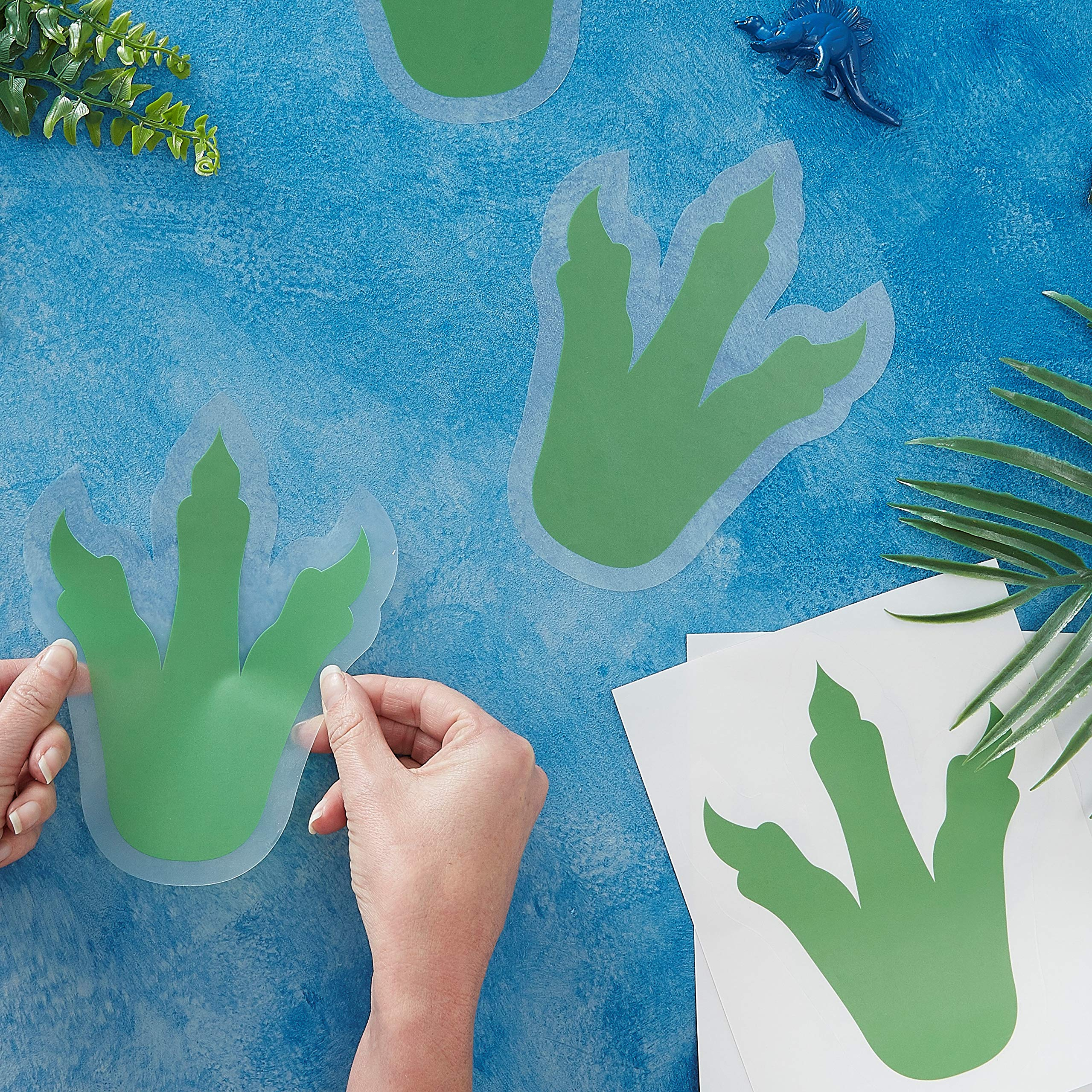 Ginger Ray Dinosaur Foot Print Sticker Party Wall Decoration 6 Pack Roarsome