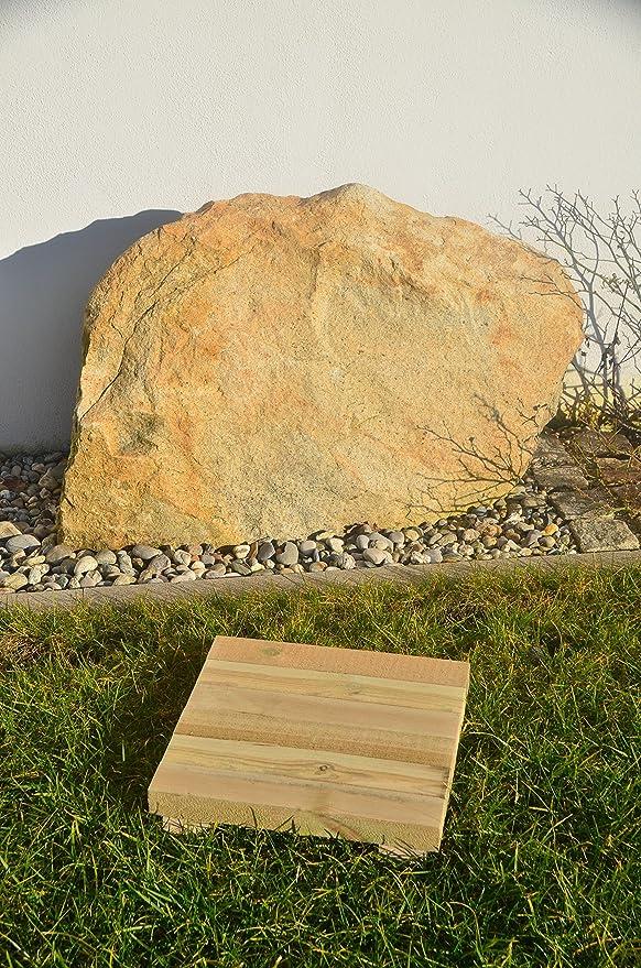Evoy Wegeplatten Topfuntersetzer Holzfliesen Trittstufen aus Holz Untersetzer **