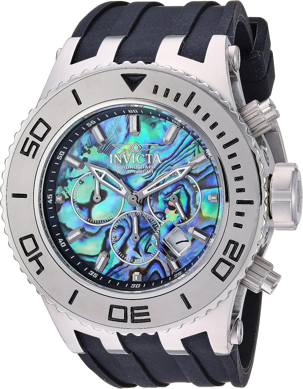 Invicta Men s Subaqua Stainless Steel Quartz Watch with Silicone Strap, Black, 32 Model 25013