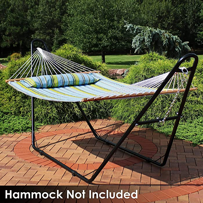 Sunnydaze 550-Pound Capacity Universal Multi-Use Heavy-Duty Steel Hammock Stand, 2 Person