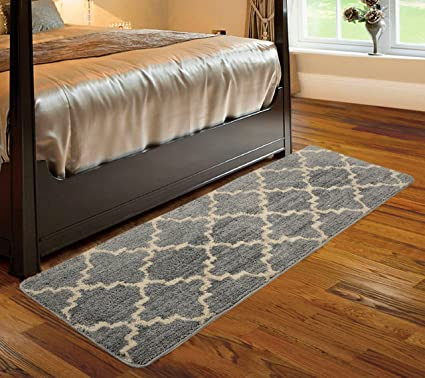 Saral Home Soft Microfiber Kitchen/Bed Side Runner- 50x180 cm