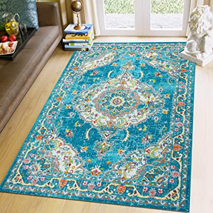 Amazon Com Super Area Rugs 5 X 7 Bohemian Rugs For Living Room
