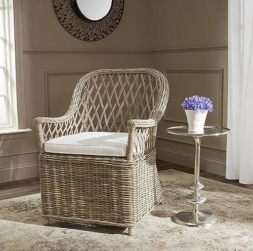 Safavieh Home Collection Maluku Soft Grey Arm Chair