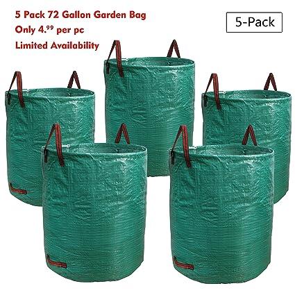 Amazon.com: PHYEX - Bolsa de jardín de 72 galones, bolsa de ...