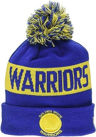 A NEW ERA Golden State Warriors Bobble Knit Gorro, Hombre, Azul, Talla Única