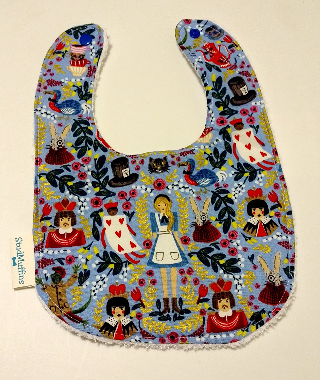 Alice In Wonderland Bib Terry Cloth Drool Bib