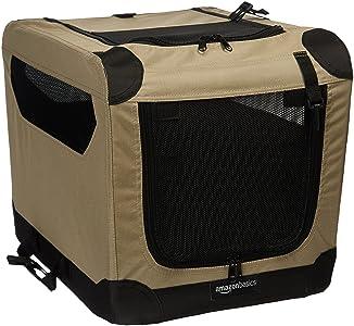 AmazonBasics - Transportín para perros, blando, plegable, 53 cm