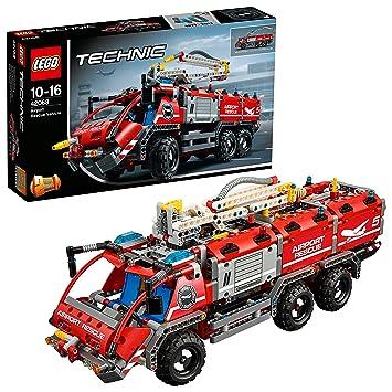 Lego Technic 42068 Flughafen Löschfahrzeug Amazonde Spielzeug