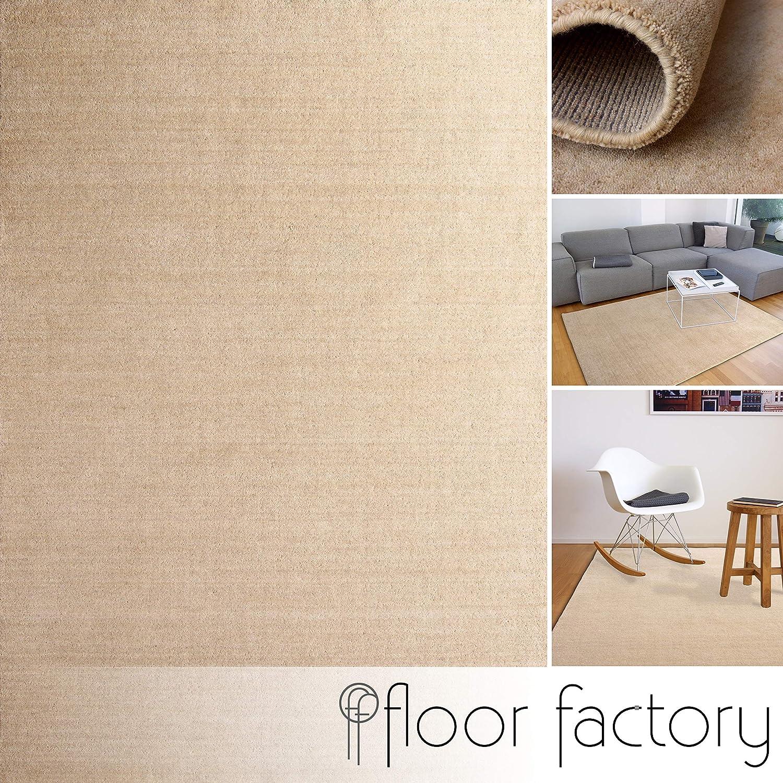 Floor factory Gabbeh Teppich Karma beige beige beige 140x200 cm - handgefertigt aus 100% Schurwolle 696718