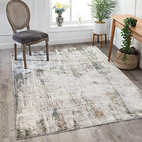 Well Woven Mella Beige Blue Vintage Distressed Area Rug