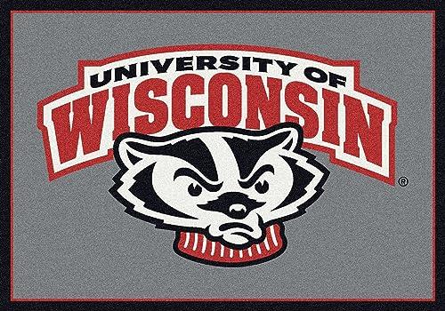 American Floor Mats Wisconsin Badgers NCAA College Team Spirit Team Area Rugs