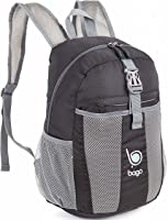 Bago Lightweight Backpack. Waterproof Collapsible Rucksack for Travel and Sports. Foldable and Packable Daypack for Adults, Men and Women, Teens and Children