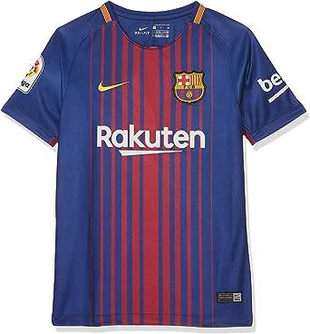 aprendiz Asimilar calibre  Nike FCB Camiseta 1ª Equipación Temporada 2017-2018, Línea FC Barcelona,  Niños: Amazon.es: Ropa y accesorios