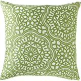 "Amazon Brand – Stone & Beam Medallion Decorative Throw Pillow, 17"" x 17"", Peridot"