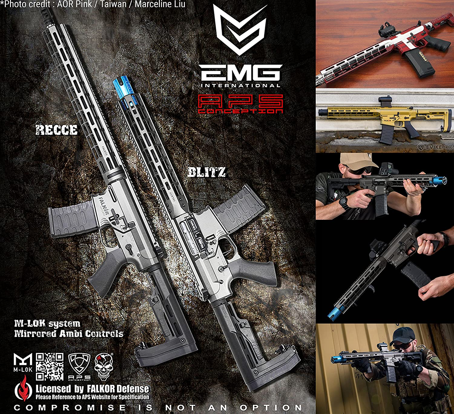 Evike Emg Falkor Ar 15 Blitz Sbr M4 Airsoft Aeg Rifle Aug Gearbox Wiring Diagram Color And Fps Options Sports Outdoors