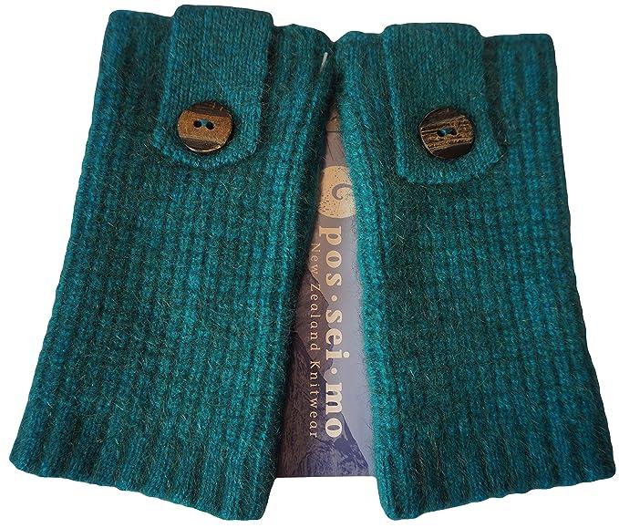 hammecenter - Calentadores de lana - para mujer multicolor azul (ocean)