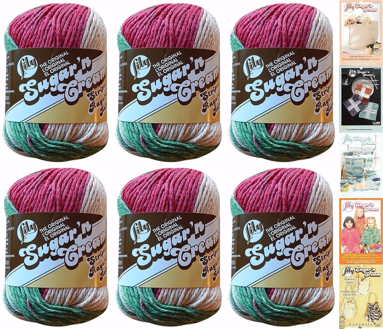 Amazon Lily Sugar N Cream Cotton Holiday Stripes 6 Pack Yarn