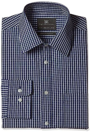 2095c77ebdf6 Marks   Spencer Men s Cotton Regular Fit Formal Shirt (5117K Ink 17 ...