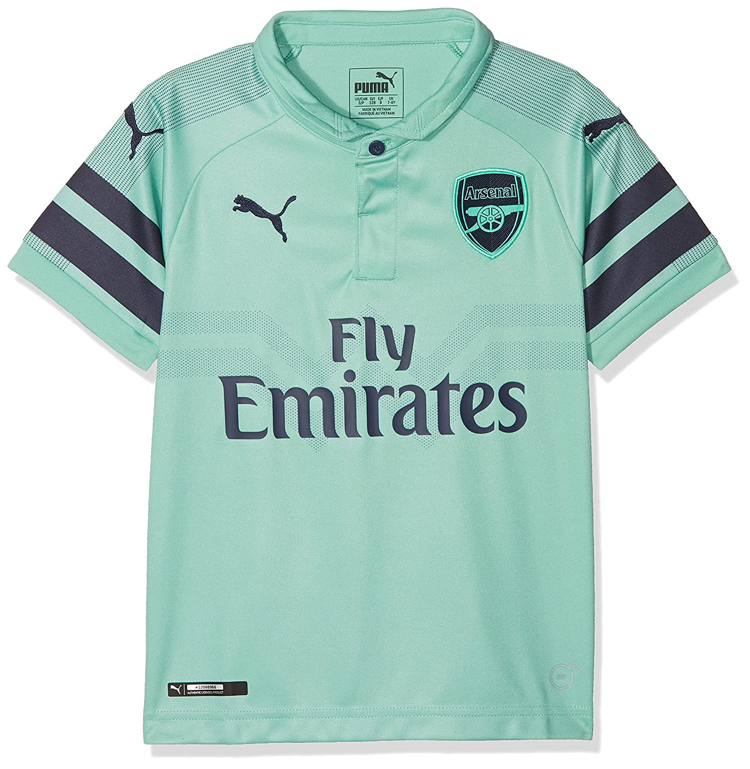 Puma Arsenal FC Third Maglietta Replica SS Kids with EPL Sponsor Logo Maglia 753219