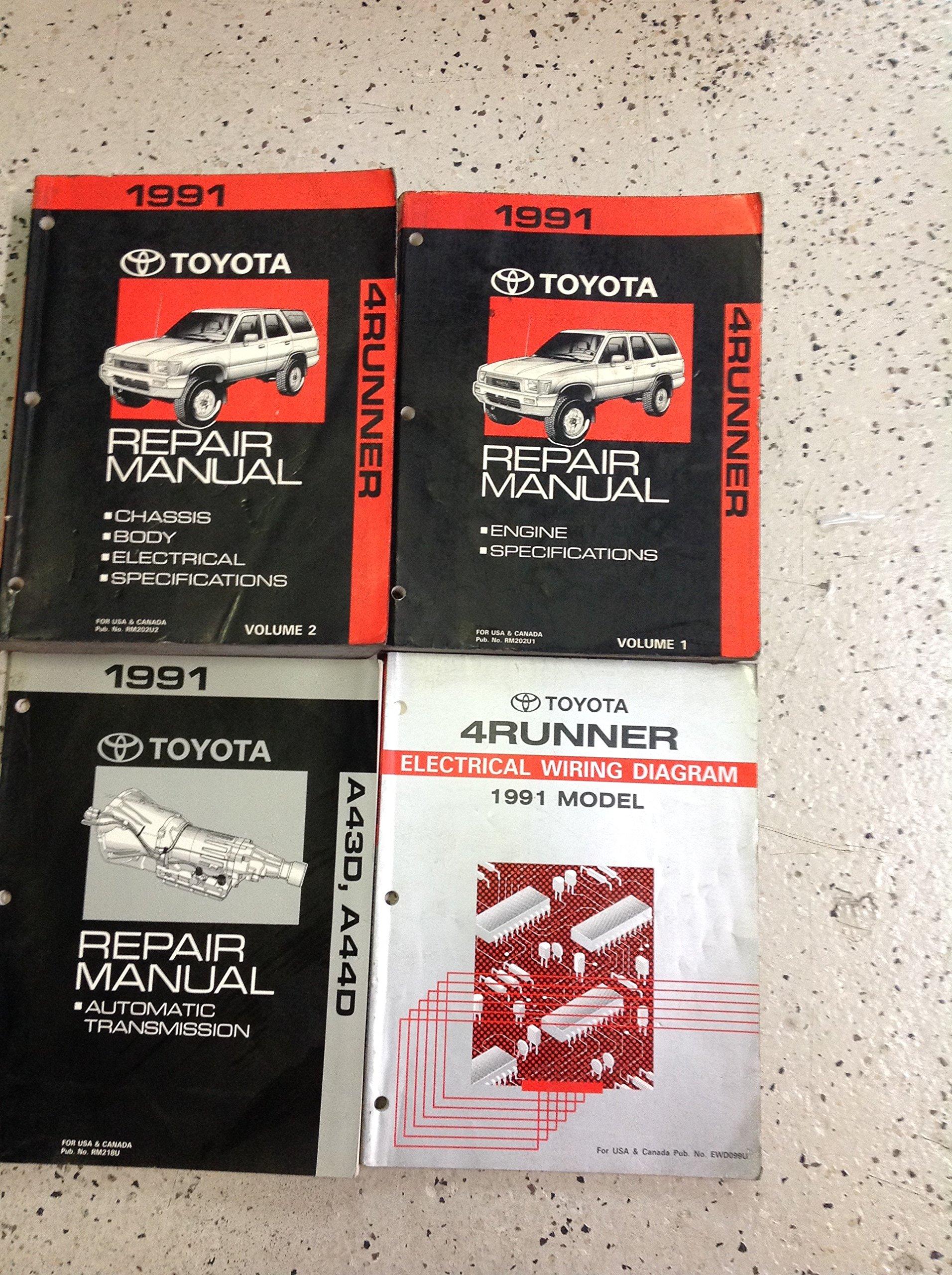 1991 TOYOTA 4RUNNER Service Shop Repair Manual Set OEM W EWD ... on 91 chrysler new yorker diagram, 91 honda civic diagram, 91 vw cabriolet diagram,