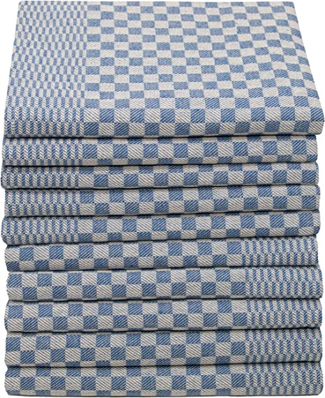 ZOLLNER 10 paños de Cocina a Cuadros Azules, Extra Grandes, 54x100 cm, algodón: Amazon.es: Hogar