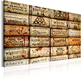 murando - Bilder 120x80 cm - Leinwandbilder - Fertig Aufgespannt - 1 Teilig - Wandbilder XXL - Kunstdrucke - Wandbild - Poster Retro Vintage Aufschrift Wein braun j-B-0021-b-a