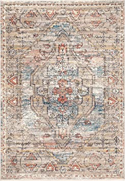 Amazon Com Nuloom Prima Persian Vintage Area Rug 4 X 6 Beige Furniture Decor