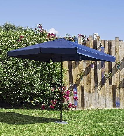 Hevea Parasol Mallorca 300 Aluminio, Azul: Amazon.es: Jardín