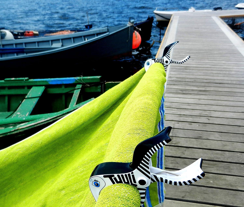 4 pcs Tuuli Summer Clips Multipurpose Peg Beach Quilt Towel Camping Garden Kite Surf Sunbed Bath Pushchair Accessory (Black Blue) Limited