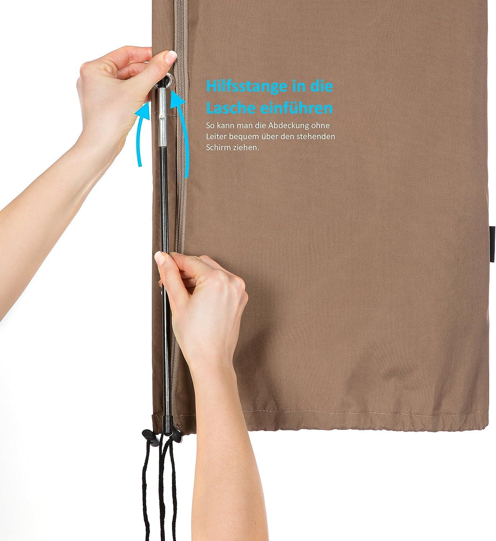 Springreen Premium Housse de protection universelle pour parasol jusqu/à /Ø 300 cm Anthracite anthracite//noir