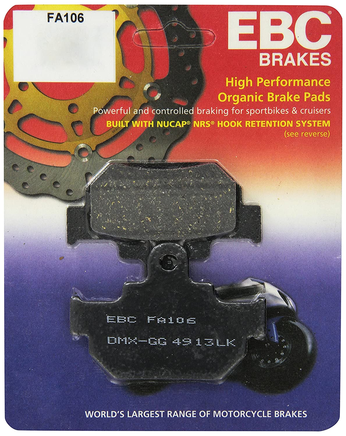 Ebc Brake Pads >> Amazon Com Ebc Brakes Fa106 Disc Brake Pad Set Automotive