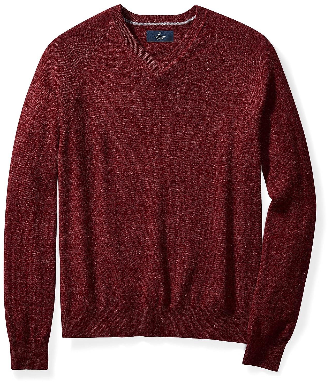 Burgundy Amazon Brand - BUTTONED DOWN Men's Men's Men's Cashmere V-Neck Sweater 48af5e