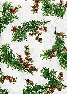 Ralph Lauren Cedarberry White Tablecloth, 60-by-120 Inch Oblong Rectangular