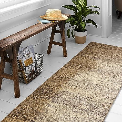 Amazon Brand Stone Beam Contemporary Speckle Wool Runner Rug