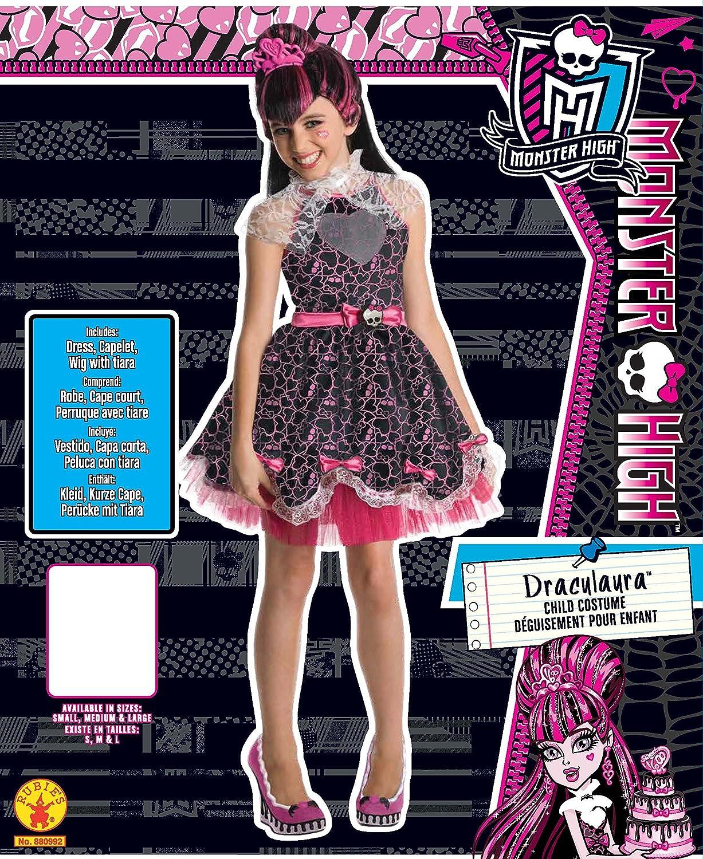 Monster High - Disfraz de Draculaura Sweet para niña, Talla M infantil 5-7 años (Rubies 880992-M): Amazon.es: Juguetes y juegos