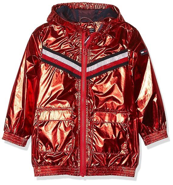 Tommy Hilfiger S Metallic Hooded Jacket, Abrigo para Niñas: Amazon.es: Ropa y accesorios