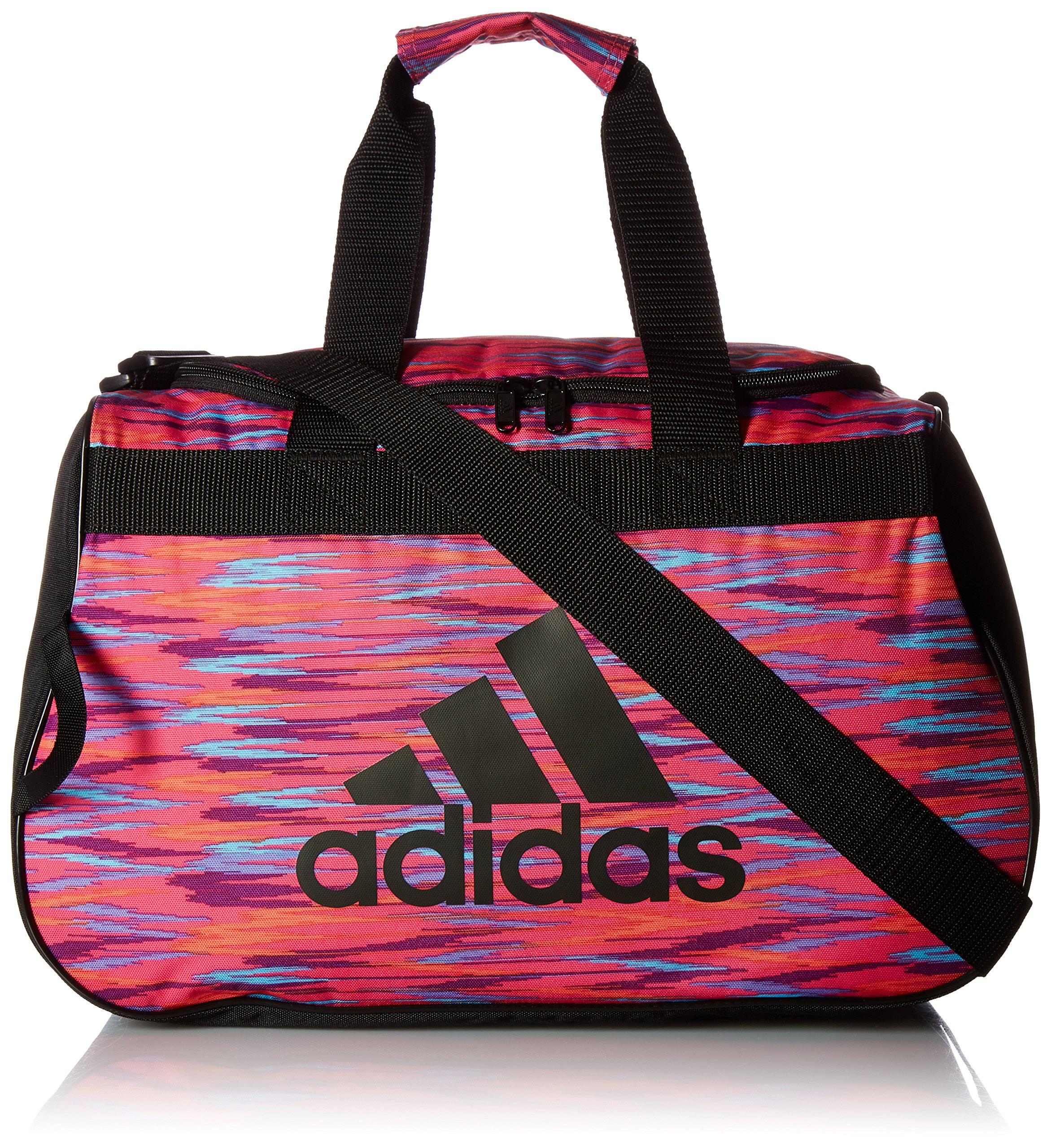 adidas Diablo Small Duffel Bag, Shock Pink Twister/Black/Shock Pink, One Size
