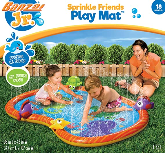 BANZAI 58 Inch Sprinkle Friends Play Mat, Watermat: Amazon.com.mx: Juegos y juguetes