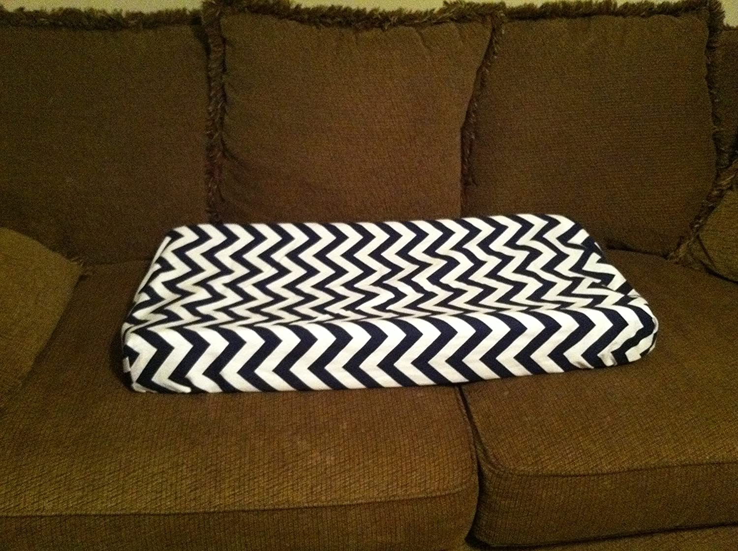 Chevron changing pad cover