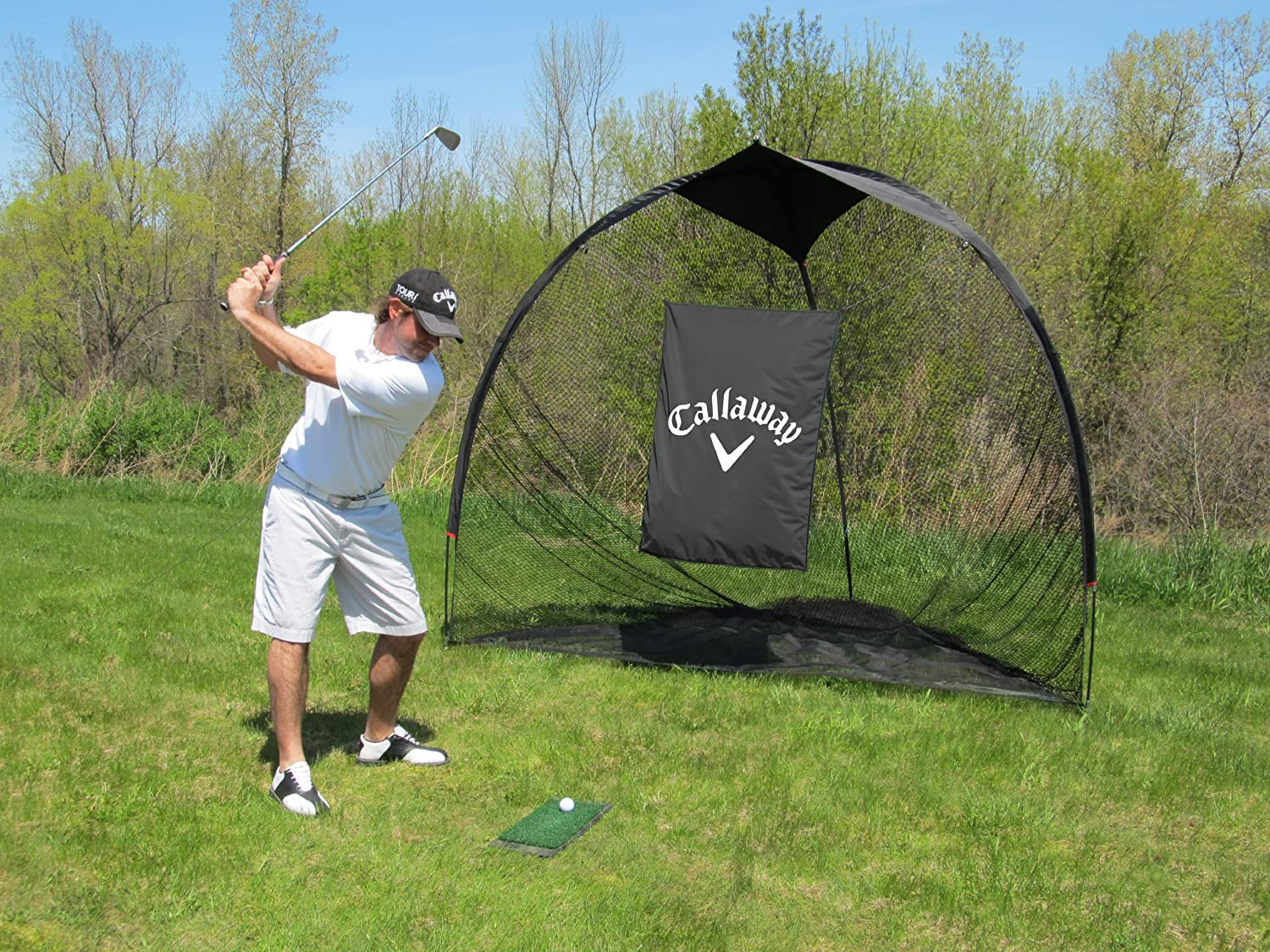 Amazon.com : Callaway Tri-Ball Hitting Net (7 X 8-Feet) : Golf ...