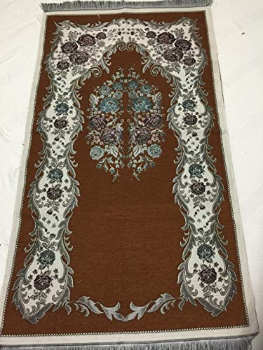 Luxury Colored Velvet Printed on Chenille Islamic Prayer Rug Janamaz Sajjadah Muslim Turkish Prayer Rug Red