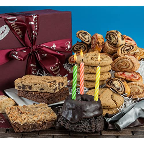 Dulcet Gift Baskets Happy Birthday Fresh Cake Collection With Candles For Men Women Kids